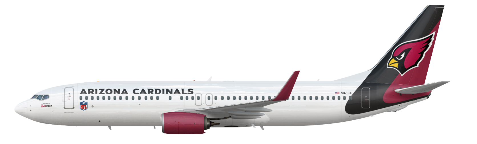 Boeing 737-800 Airzona Cardinals