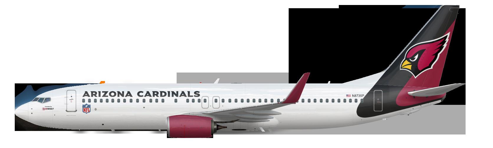 Boeing 737-800 Airzona Cardinals